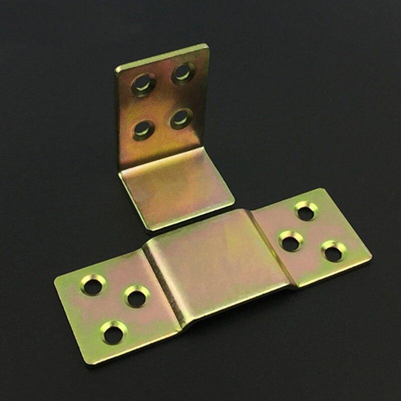 Bed Hinges Bed Plug-in Hardware Pendant Fastener Hinge Fittings Furniture Connector 4pair