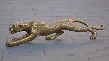 Noël chinois Fengshui laiton féroce léopard panthère guépard Animal Statue Sculpture nouvel an