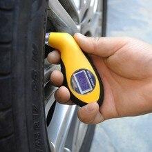 Jauge de pression pour pneus de voiture   Système dalarme portable, roue à pneu, testeur dair Portable LCD numérique de réparation pour moto de voiture