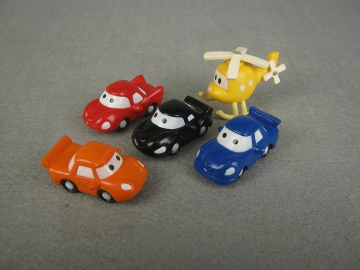 PVC mini camión hecho a mano figura conjunto de juguete playset/cake Topper figurines de 5 unids/set