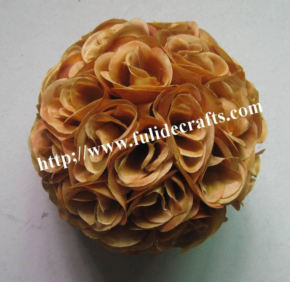 SPR 4 unids/lote marrón/café Rosa Bola de flores de la boda decoration-40cm