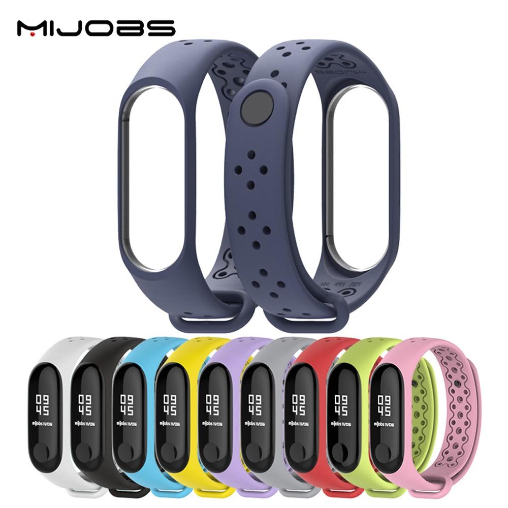 Ремешок Mijobs спортивный для Xiaomi Mi Band 4/3, силиконовый ремешок для Mi Band4/3, браслет для наручных часов Mi Band 4/3, умные часы Mi 3/4