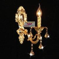 European Crystal wall lamp candle lamps headlight mirror bedside lamp bedroom lamp lighting aisle zinc alloy wall E14AC110-240V