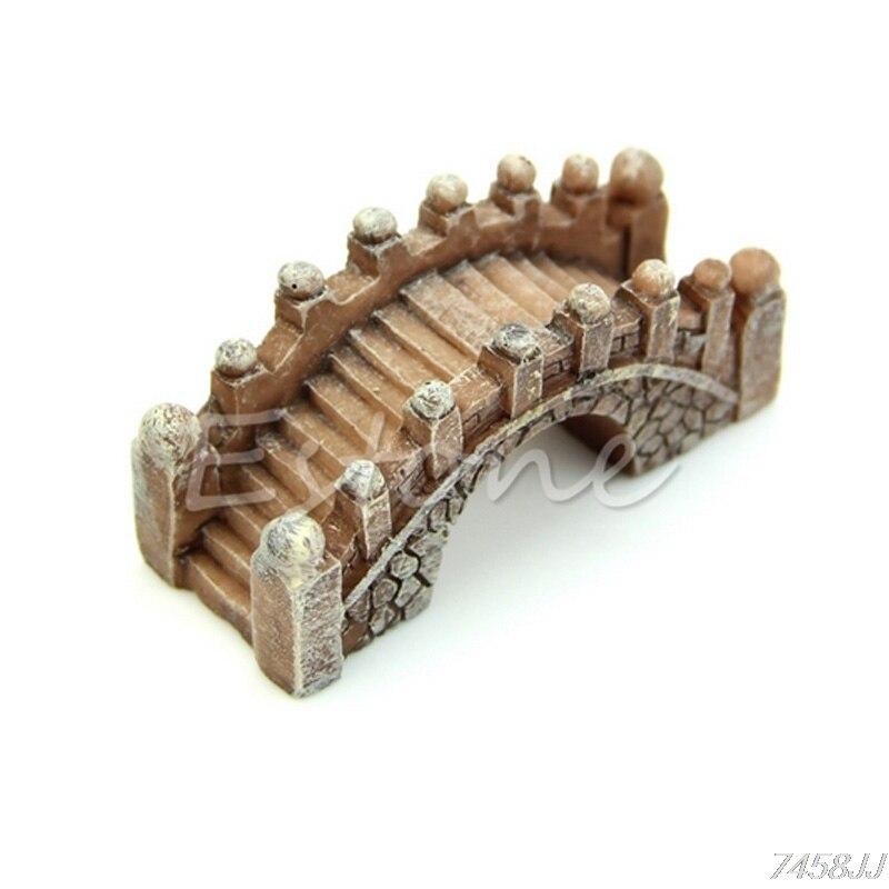 Mini puente miniatura paisaje Terrario de jardín de hadas herramienta de decoración manualidades de jardín G03 Drop ship
