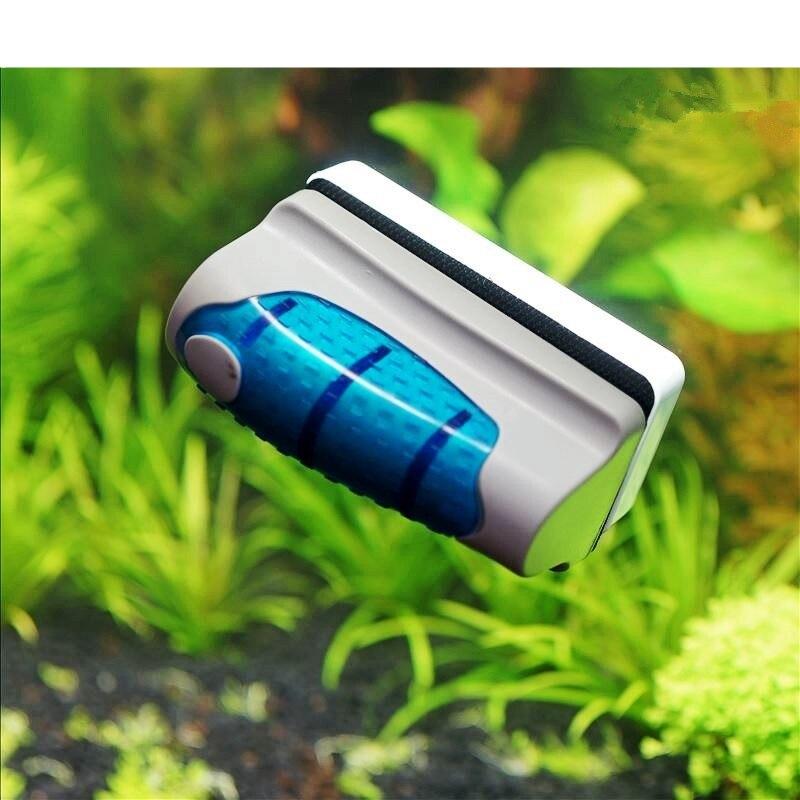 2017 nuevo tanque magnético de peces de acuario rasqueta limpiadora de algas para vidrio limpiador magnético cepillo tanque de peces de acuario herramientas de acuario cepillo flotante
