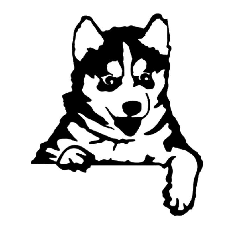 Pegatinas de vinilo para cachorros de perro Husky de 9,1x10,7 CM, bonitos...