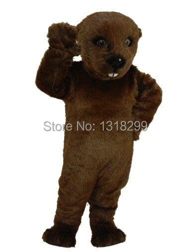 Disfraz de Mascota de nutria marrón oscuro disfraz de mascota disfraz de fantasía personalizado disfraz de Carnaval de Mascota