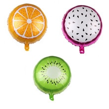 Fruit Foil Helium Balloon Orange Watermelon Kiwi Popcorn Pineapple Summer Party Decoration Supplies Kids Toy