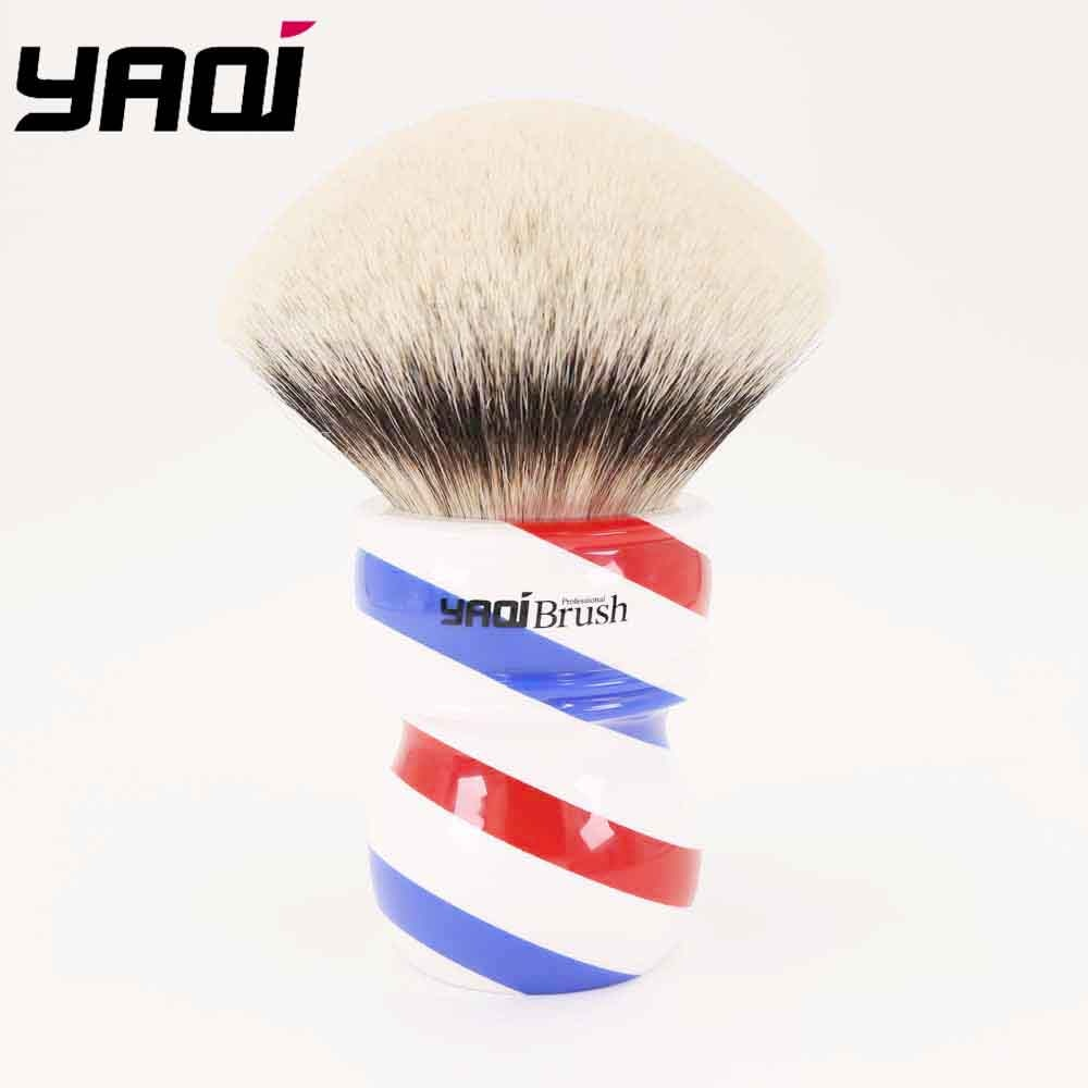 Yaqi 75mm Monster Two Band Badger Hair Shaving Brush With Barberpole Handle