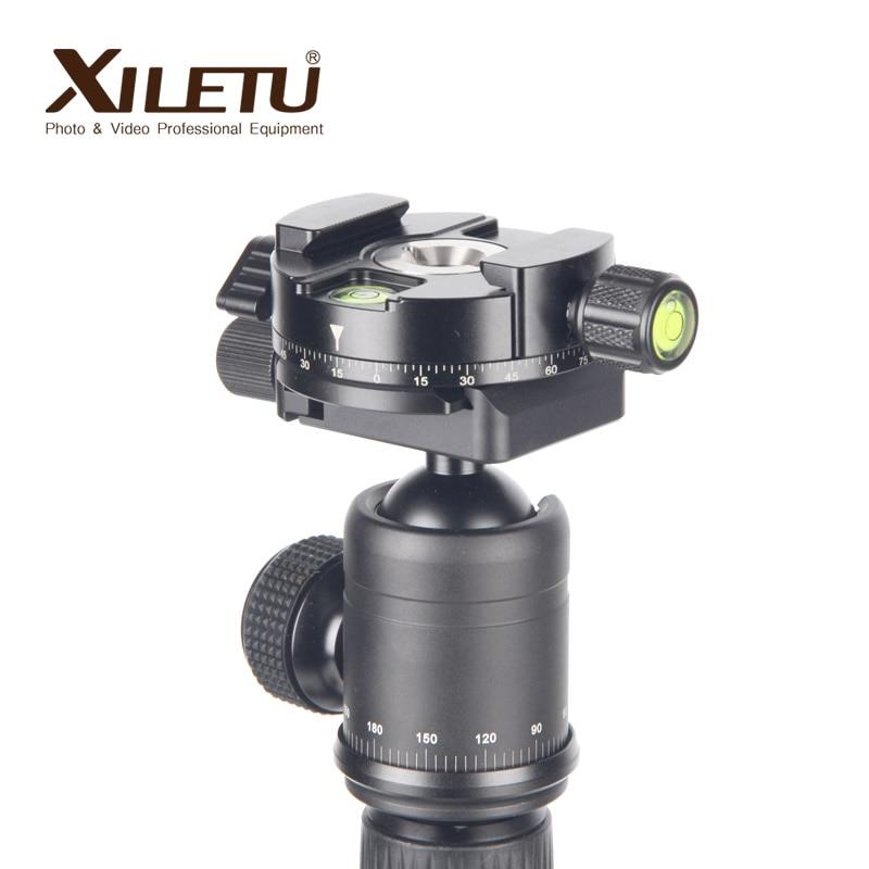 XILETU XPC-60 360 Grad Panorama Adapter Clamp Stativ Einbeinstative Schnelle Montage Platte Für Arca Swiss