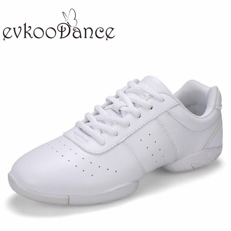 Белые кожаные эва мягкая подошва удобные гибкие танцевальные спортивные туфли женские Танцевальные Кроссовки J-002