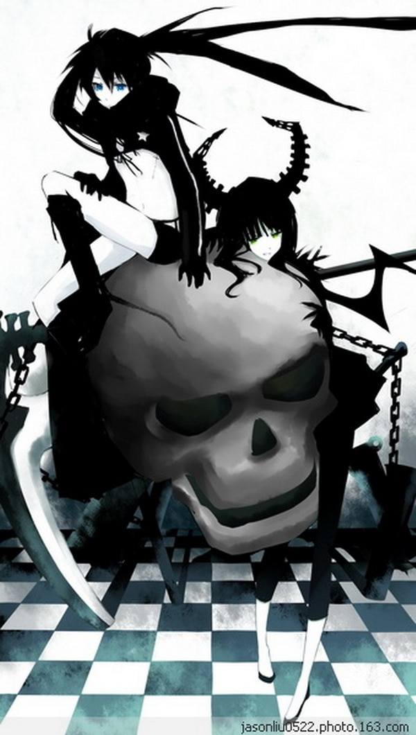 Black Rock Shooter Anime Character 120*210CM Single-side Quilt Cover #30130