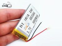 li-po 1pcs/lot 683566 3.7 V lithium polymer battery 3000 mah DIY mobile emergency power charging treasure battery