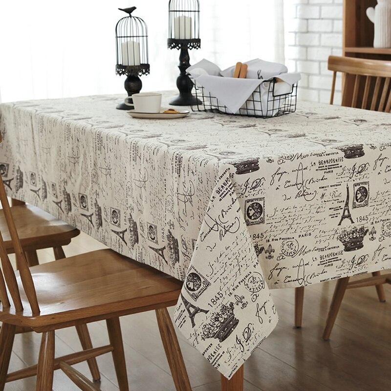 Mantel europeo, mantel de decoración de torre, mantel de algodón de lino para comedor, mantel impreso para Picnic, fiesta, hogar, cocina, banquete