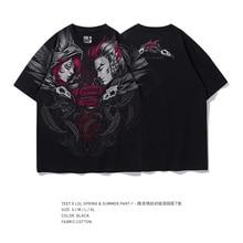 TEE7 homme ou femme 3d oversize à manches courtes t-shirt LOL jeu XAYAH et RAKAN lépaule Gauche décontracté coton t-shirt