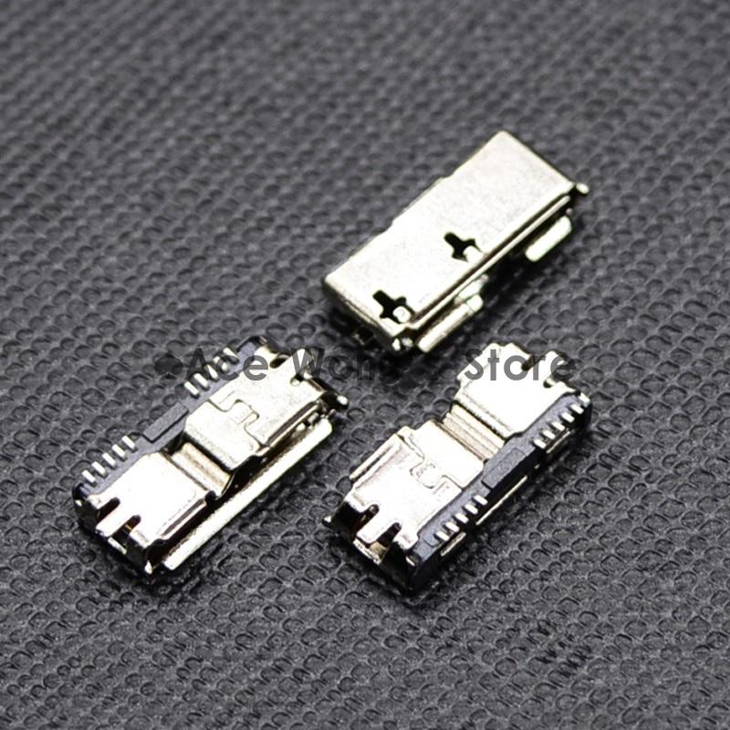 Alta calidad 5 uds alta velocidad Micro USB 3,0 hembra 10Pin SMD SMT Socket PCB conectores de soldadura
