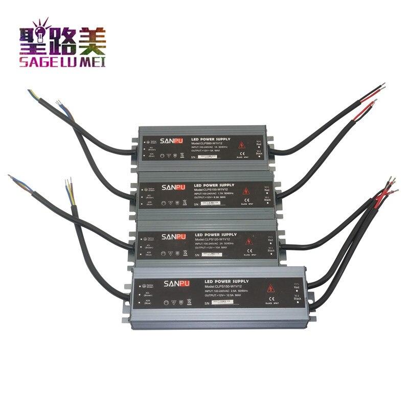 Led ultra-fino à prova dip68 água fonte de alimentação ip68 AC110V-220V para dc12v/dc24v transformador 45 w/60 w/100 w/120 w/150 w/200 w/300 w led driver