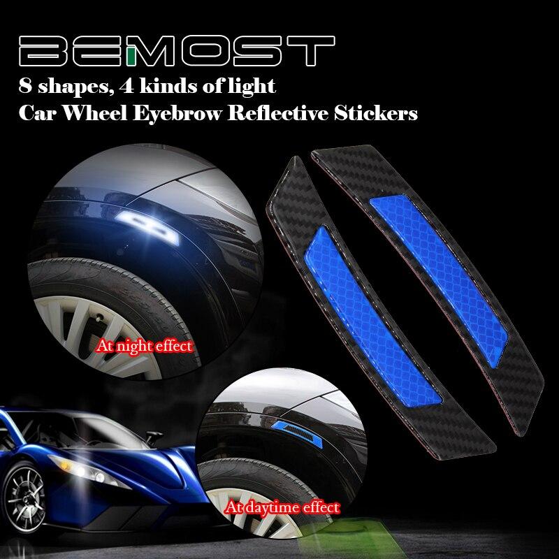 BEMOST tira reflectante de coche de advertencia de seguridad Protector Etiqueta de estilo para Seat Leon MK1 MK2 MK3 Ibiza Altea XL Exeo Alhambra Mii