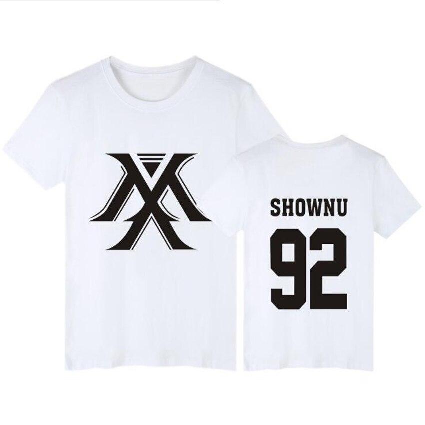 Camisa Monsta X KPOP I.M JOOHEON MINHYUK SHOWNU WONHO Kurze hülse T-Shirt Frauen T-shirt Femme k-pop Paar Kleidung 4XL