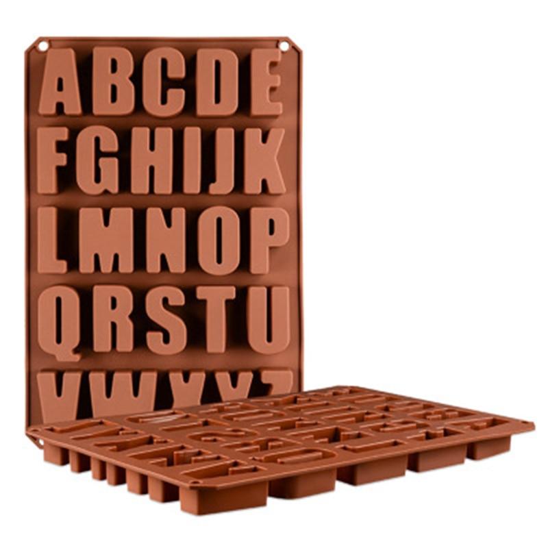Suministro de molde de silicona herramienta para hornear 26 letras mayúsculas DIY Chocolate caramelo molde para Decoración de Pastel molde pequeño jabón molde de alta calidad