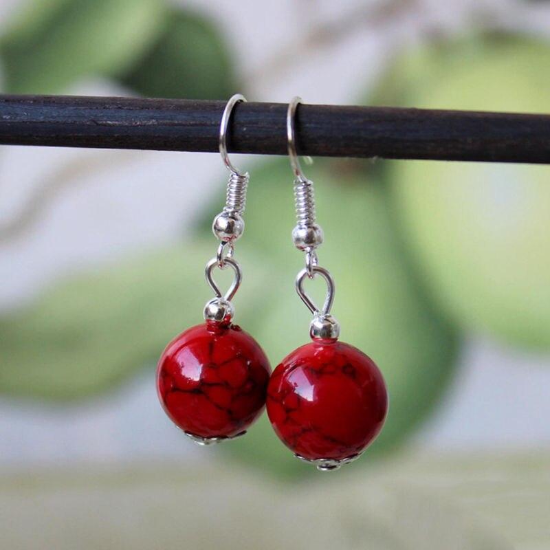HOT-SELLING Nice Women Tibetan Sliver Earrings Gift Fashion Simple Ball Shape Dangle Earring Female Modern Statement Jewelry
