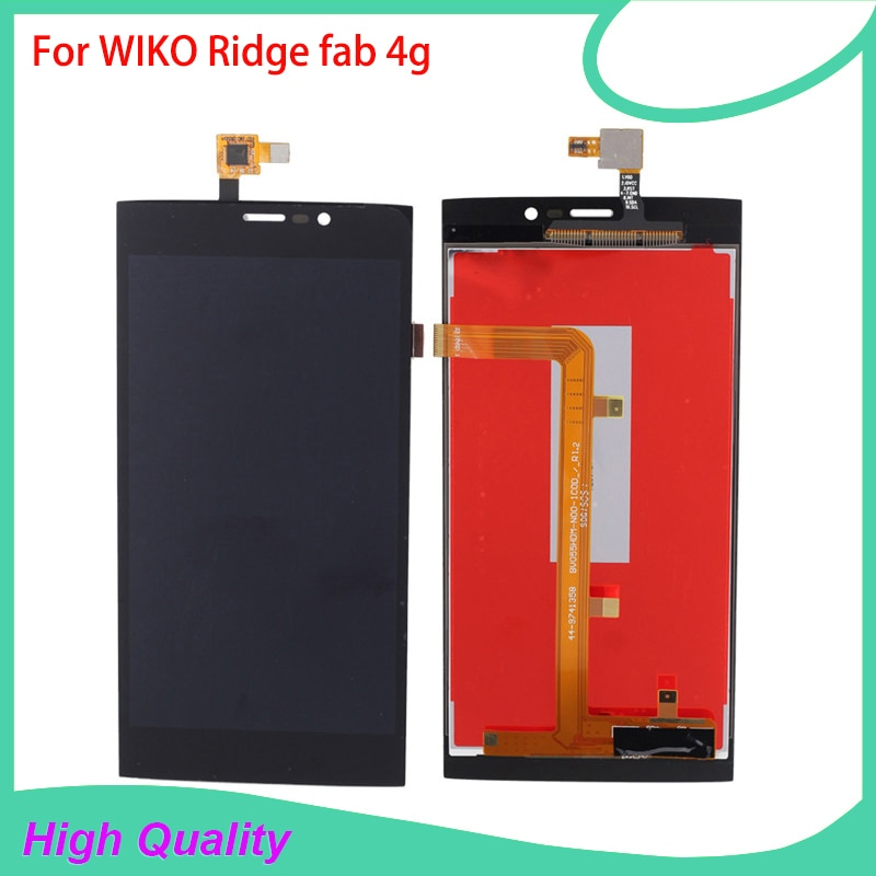 New Brand LCD Display Touch Panel For WIKO Ridge Fab 4G Touch Screen Black Color Mobile Phone LCDs F