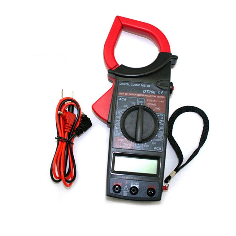 Voltímetro digital amperímetro ohmmeter multímetro volt ac dc testador braçadeira medidor dt266