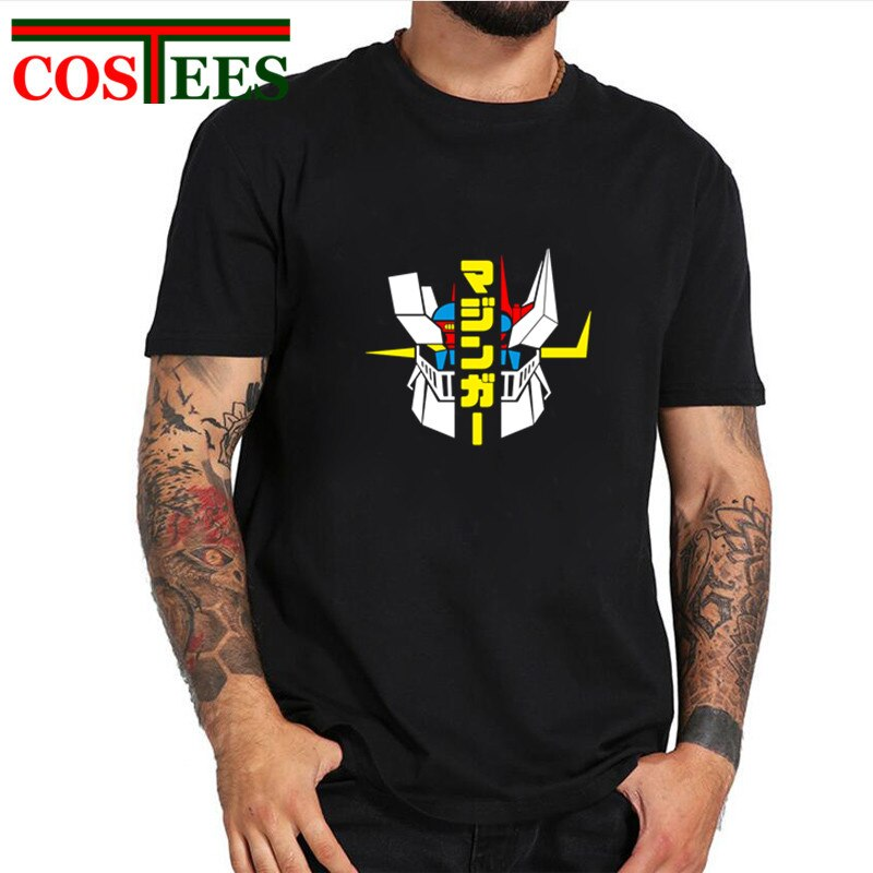 Novedad de 2019, Camiseta clásica con dibujo de Mazinger Z para hombre, camiseta de Anime japonés Great Mazinger, camiseta de Manga para hombre, camiseta de Robot, camisetas