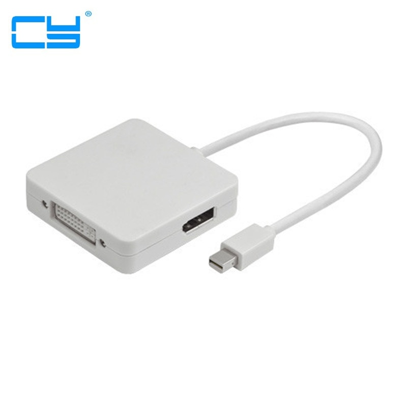 3 em 1 Mini Displayport DP para HDMI Compatible con DVI Displayport...