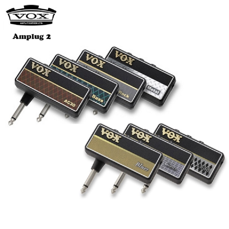مضخم صوت لسماعة أذن Vox Amplug 2/Bass ، جميع الموديلات-AC30 ، روك كلاسيكي ، معدن ، باس ، نظيف ، بلوز ، الرصاص