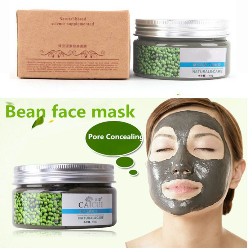 110g aceite de Frijol mungo negro Control de la cabeza máscara de acné tratamiento limpio Blackhead eliminar la piel BV4