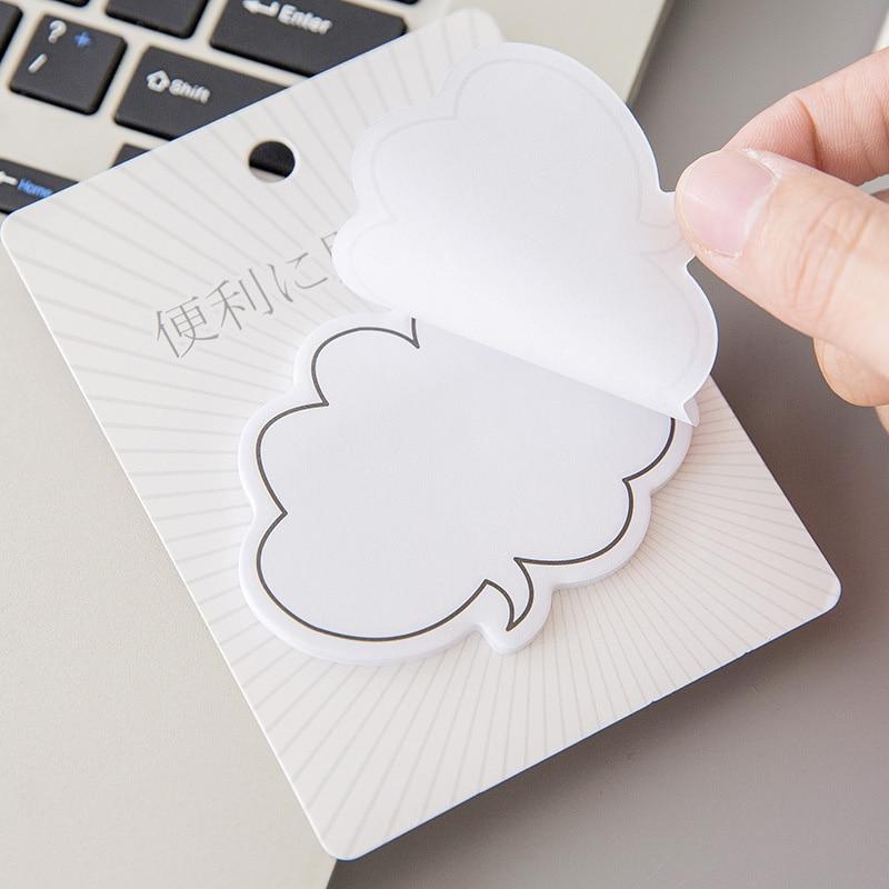 30 hojas/pc caja de diálogo estilo Simple japonés creativo serie Post-it notas pequeños mensajes frescos N veces adhesivo portátil JY