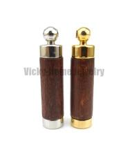 Pendentif arôme bois marron livraison gratuite en acier inoxydable 316L pendentif flacon pour pendentif arôme huile essentielle