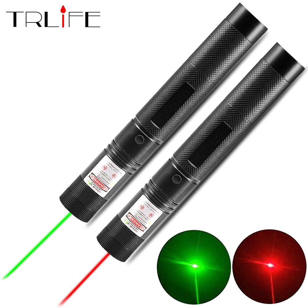 Laser caneta visão poderosa laser caneta luz apresentador 5 mw 532nm vermelho verde lazer caça dispositivo laser ferramenta de ensino ao ar livre