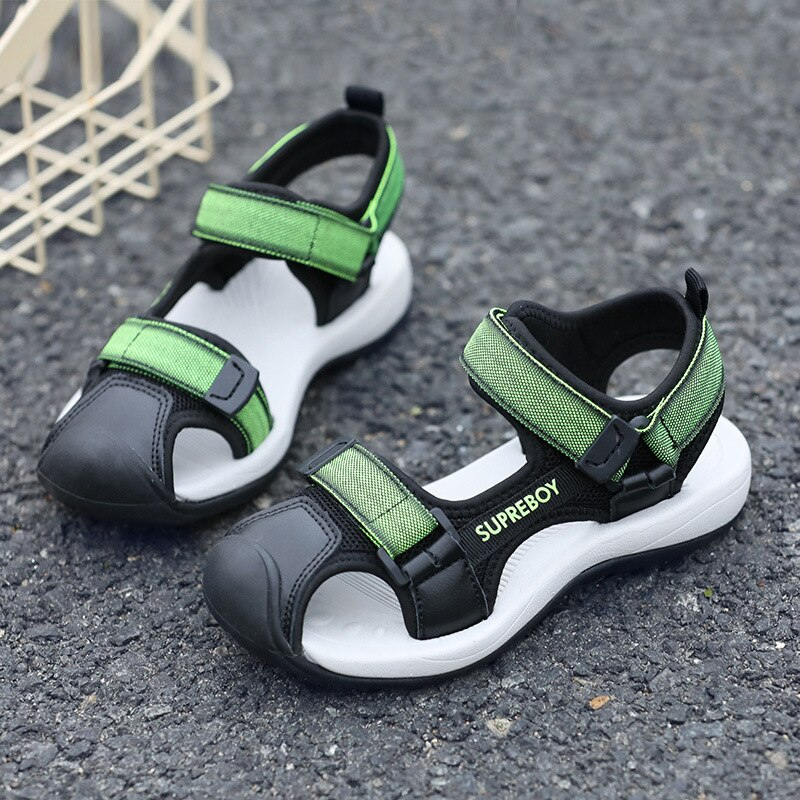 Crianças Sandálias para Meninos Meninas Ortopédicos Sandálias Sapatos de Praia Infantil Bebes Fechado Do Dedo Do Pé Arch Suporte Esporte Sandálias Meninos Descalços