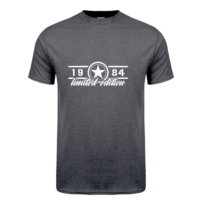 Omnitee Mann Geboren In 1984 T Shirt Männer Baumwolle Oansatz Kurzarm Limited Edition 1984 T-shirt Geburtstag Geschenk T-shirt Tops OZ-273