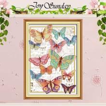Papillons volent librement compté point de croix 11CT 14CT point de croix ensemble en gros bricolage point de croix Kit broderie couture