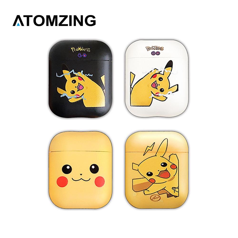 Funda de TPU suave de dibujos animados, funda de auriculares para Apple AirPods 1 2, caja de carga inalámbrica con cable, bonita funda de bolsa Pikachu