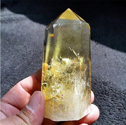 Ahumado natural citrino Punta de cristal de cuarzo mágica de curación