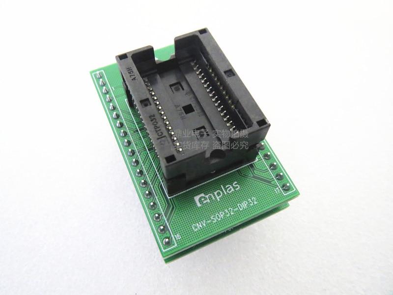 Opentop-جهاز اختبار ذاكرة الوصول العشوائي SOP32/DIP SOIC32 ، 450MIL ، IC ، حرق المقعد ، محول ، مقعد اختبار المقبس ، مقعد الاختبار ، متوفر