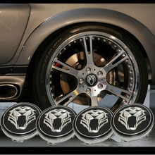 Autocollant de moyeu pour VW Polo Passat B5   Logo tigre de roue de course de voiture, GOLF 4 5 6 Bora Tiguan, Toyota Audi A4 B7 B8 TT RS