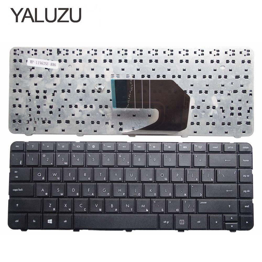 Yaluzu novo teclado russo para hp compaq presario cq43 cq57 cq58 G6-1000 G4-1000 portátil teclado russo preto ru layout preto