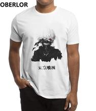Tokyo Ghoul Anime japon t-shirt hommes imprimé gothique esthétique vêtements Harajuku Streetwear blanc Camisetas Hombre t-shirt Homme