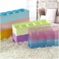 Underwear Sock Storage Organizer Five Lattice Sorting Box Desktop Drawer Classification Cosmetics Makeup Boxes Home Accessories