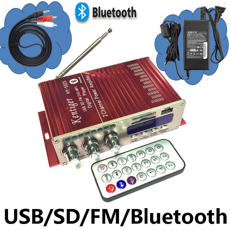 KENTIGER HY-502S 40W البسيطة بلوتوث مكبر للصوت USB/SD لاعب FM راديو مع التحكم عن بعد محول الطاقة و AUX كابل اختياري
