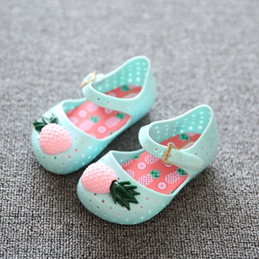 Pineapple Fruit Hole Summer Jelly Children's Shoes Hot Sale girl Jelly sandal for gift