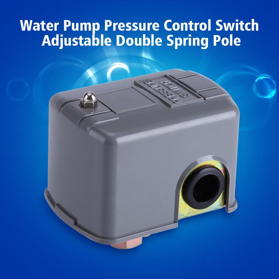 Interruptor de Control de presión de bomba de agua controlador de presión de doble Polo de resorte ajustable para interruptor de bomba de agua