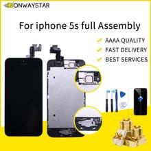 Pour iPhone SE A1723 A1662 A1724 Lcd remplacement plein écran LCD avant caméra oreille haut-parleur accueil bouton outils avec verre trempé