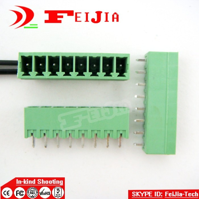 Frete grátis (100 pçs/lote) 15EDGK-3.81-8P + 15EDGVC-3.81-8P Reta Pin Screw Terminal Block Conector Plugável tipo N ° 1
