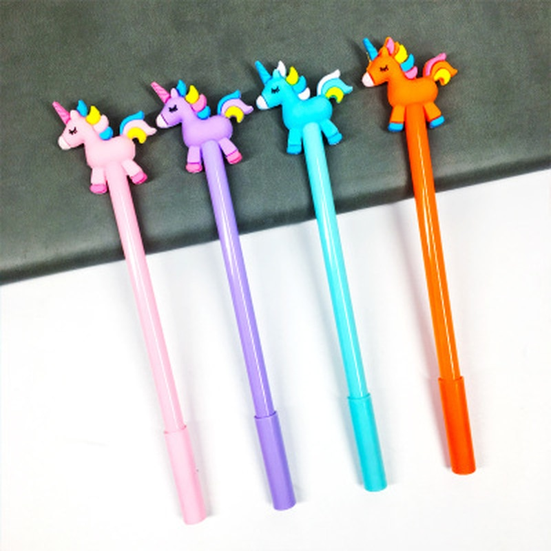 cute cat rabbit gel pens set kawaii stationery gel ink pens for kids gifts writing pen stationery caneta escolar school supplies 1pcs Unicorn Gel Pens Stationery Novelty Kawaii Pen 0.5mm Cute Pens Cute Cartoon Student Writing Gel Pen Kawaii School Supplies